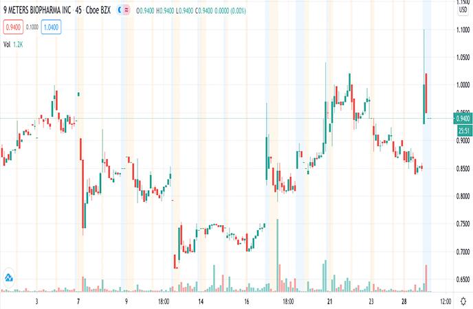 Penny Stocks to Watch 9 Meters Biopharma Inc NMTR Stock Report