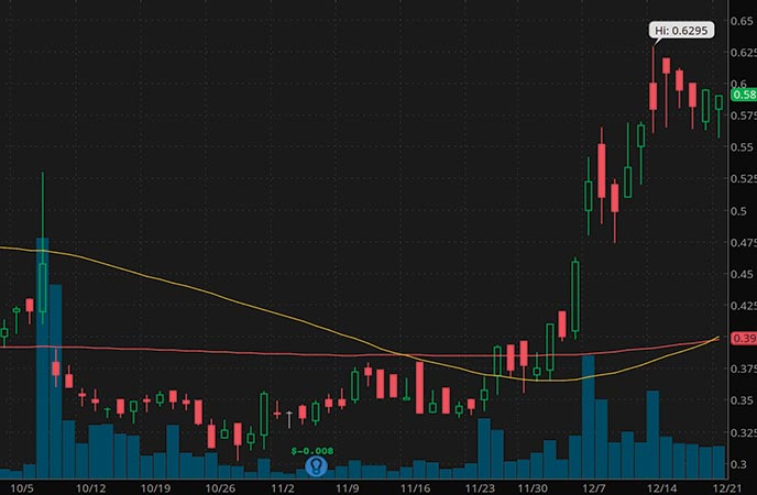 alternative energy penny stocks to watch Denison Mines DNN stock chart