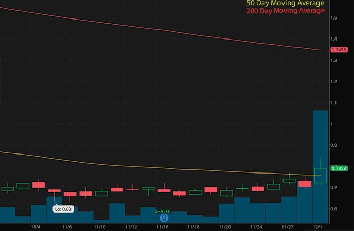 biotech stocks to buy sell Predictive Oncology Inc. (POAI stock chart)