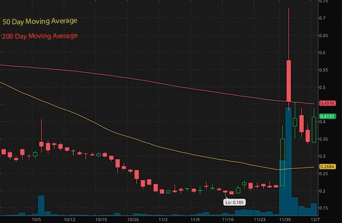 penny stocks to buy Jaguar Health Inc. (JAGX stock chart)
