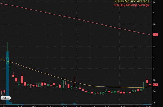 penny stocks to watch NanoVibronix Inc. (NAOV stock chart)