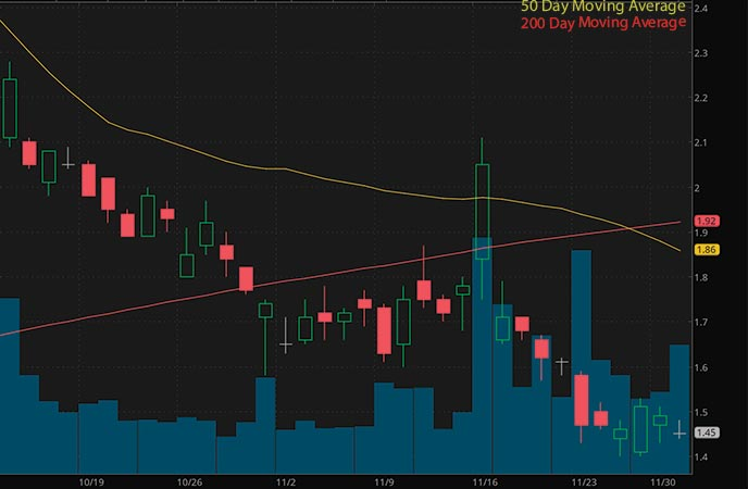 penny stocks to watch right now iBio Inc. (IBIO stock chart)