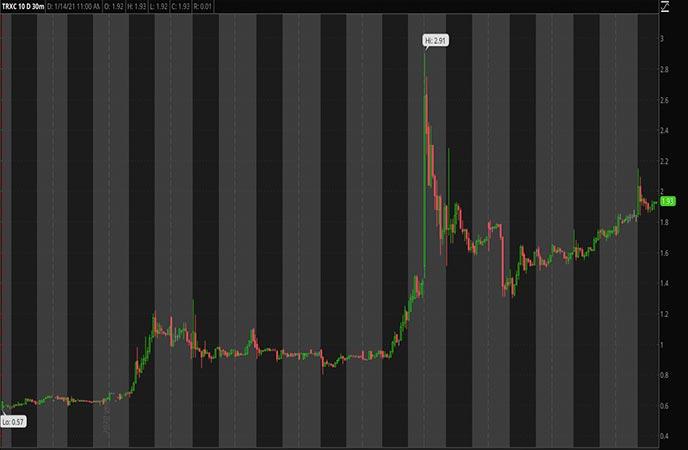 Penny_Stocks_to_Watch_Transenterix Inc. (TRXC Stock Chart)