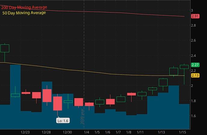 biotech penny stocks to buy Venus Concept VERO stock chart