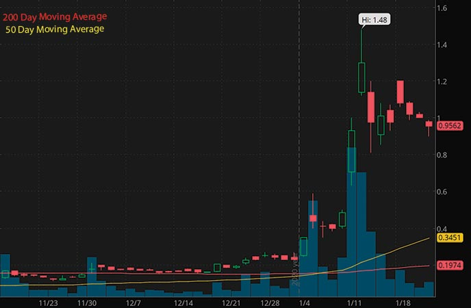 penny stocks to watch this week Zomedica Corp. ZOM stock chart