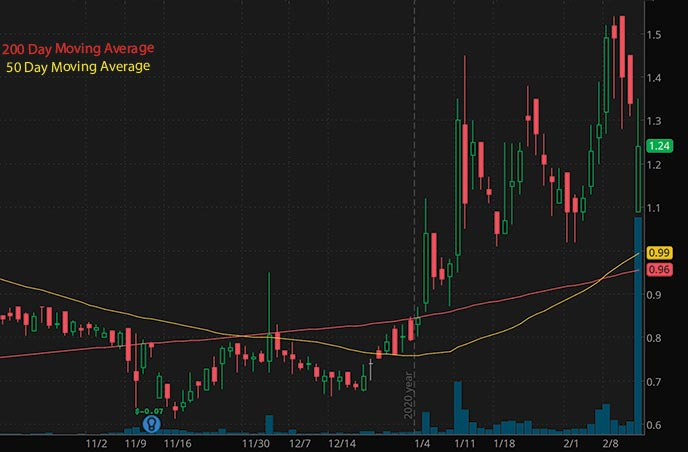 biotech penny stocks list Diffusion Pharmaceuticals Inc. DFFN stock chart