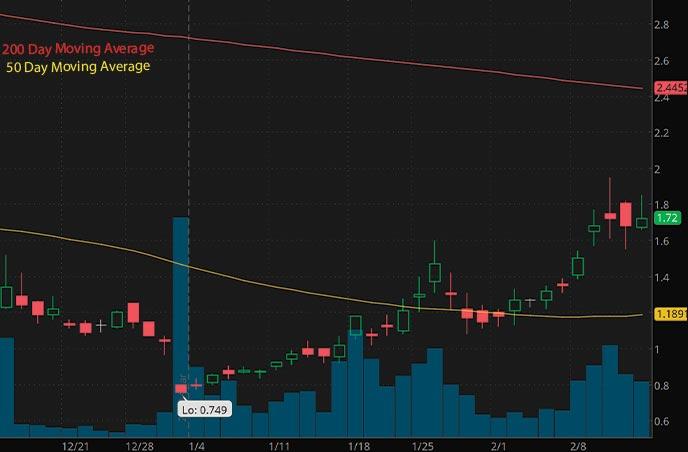 biotech penny stocks list Histogen Inc. HSTO stock chart