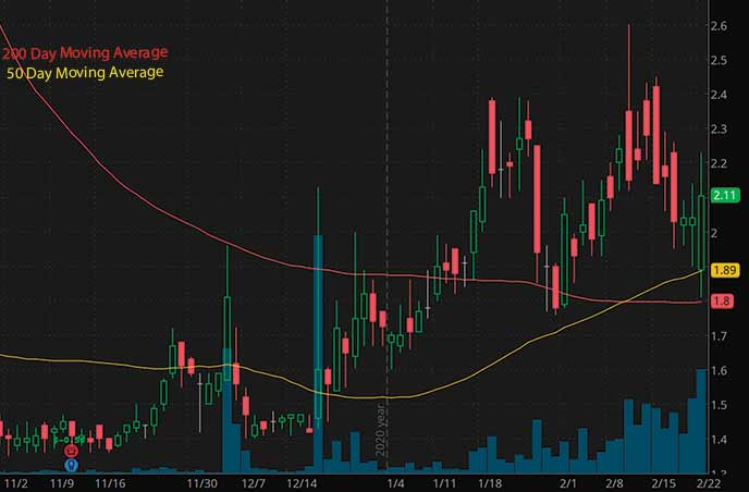 biotech penny stocks to watch march 2021 Senestech Inc. SNES stock chart