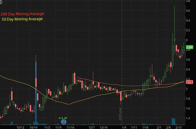 epicenter penny stocks to watch Muscle Maker GRIL stock chart