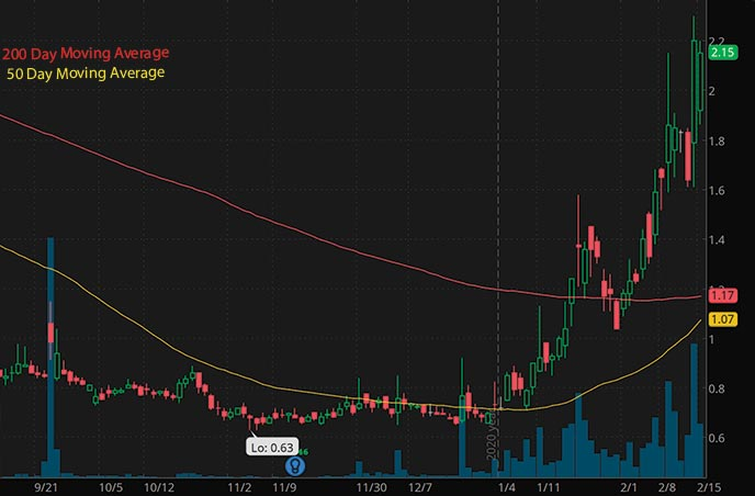 hot penny stocks to watchPredictive Oncology POAI stock chart
