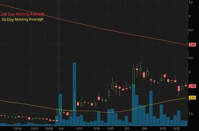 hot reddit penny stocks to watch Hall of Fame Resort & Entertainment HOFV stock chart