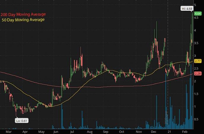 hotel stocks to buy Monaker Group MKGI stock chart