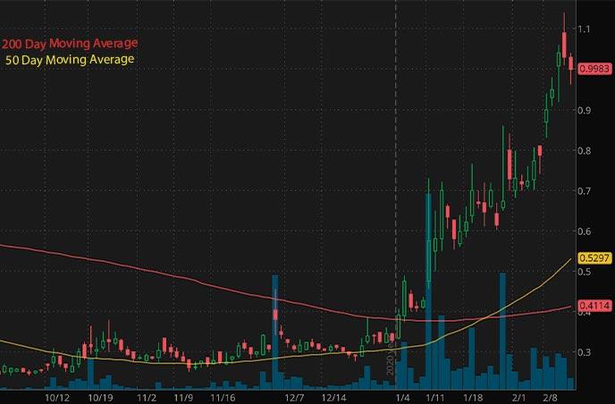 penny stocks to buy under $1 China SXT Pharmaceuticals SXTC stock chart