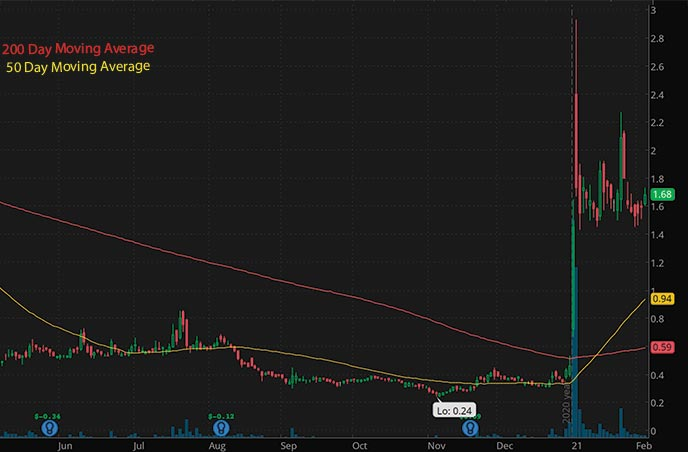 penny stocks to watch Check-Cap CHEK stock chart