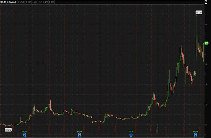Biotech Penny Stocks to Watch Seelos Therapeutics Inc SEEL Stock chart