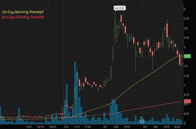 PRQR stock biotech stocks to watch Zomedica ZOM stock chart