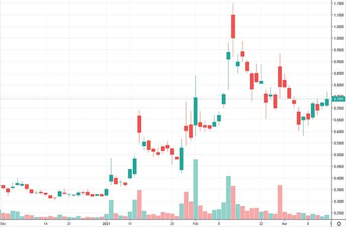 best penny stocks to buy next week Northern Dynasty Minerals Ltd. NAK stock chart