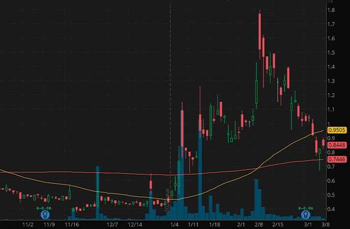 best penny stocks to watch biotech Oragenics Inc. OGEN stock chart