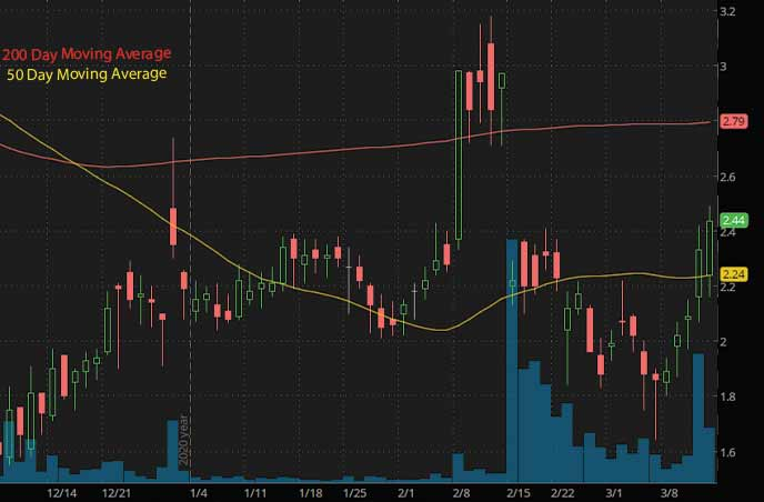 biotech penny stocks to watch Hepion Pharmaceuticals HEPA stock chart