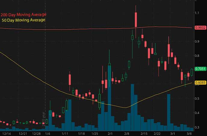 hot penny stocks to buy nder $1 Northern Dynasty Minerals Ltd NAK stock chart