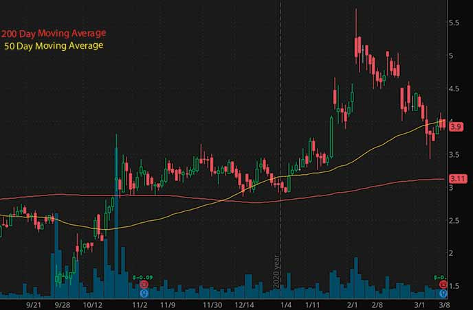 penny stocks to buy Selecta Biosciences SELB stock chart