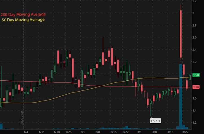 penny stocks to buy senestech SNES stock chart