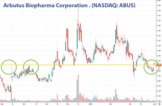 penny stocks to buy now Arbutus Biopharma Corporation ABUS stock chart