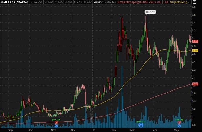Penny_Stocks_to_Watch_Sesen Bio Inc. (SESN Stock Chart)