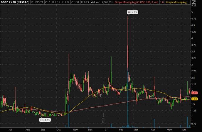 Penny_Stocks_to_Watch_Dogness Corp.  (DOGZ stock chart)