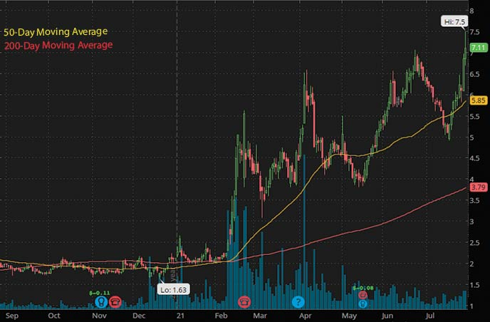 best biotech penny stocks to watch right now PAVmed PAVM stock chart