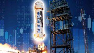 bezos blue origin rocket launch stock market