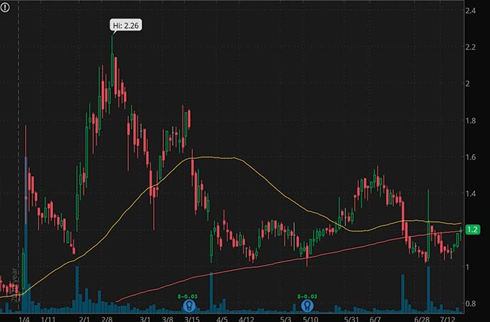 penny stocks to buy 9 Meters Biopharma Inc. NMTR stock chart