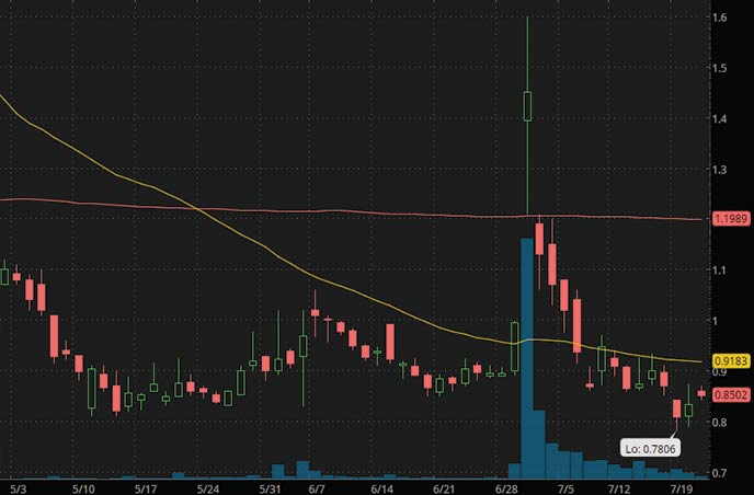 penny stocks to buy now Borqs Technologies Limited BRQS stock chart