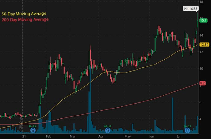 top biotech stocks to watch Oramed Pharmaceuticals ORMP stock chart