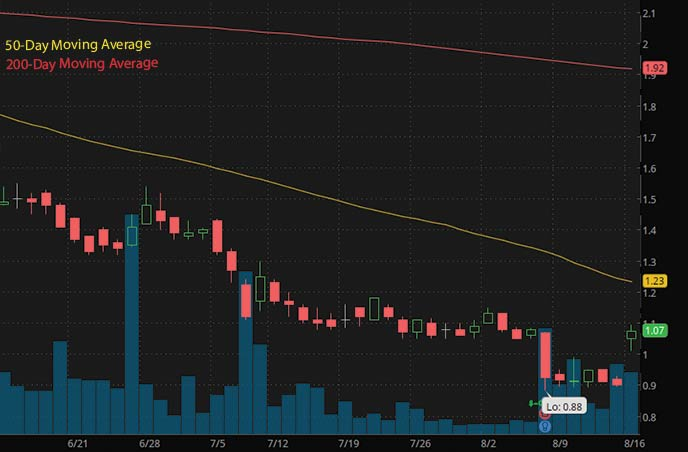 best penny stocks to buy right now Surgalign Holdings Inc. SRGA stock chart