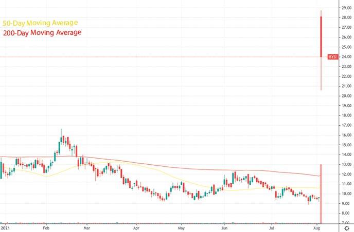top reddit stocks to watch hood stock BeyondSpring Inc. BYSI stock chart