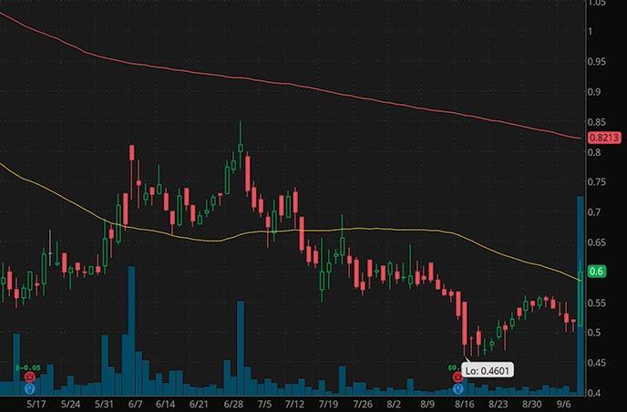 Reddit Penny Stocks to Watch Cyren Ltd CYRN Stock Chart