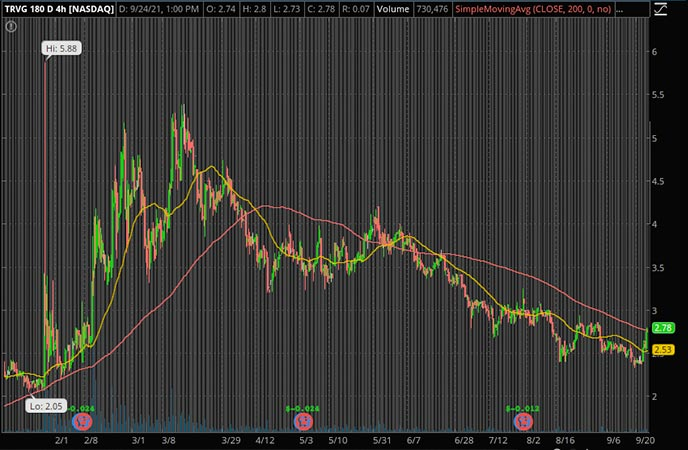 Penny_Stocks_to_Watch_Trivago (TRVG Stock Chart)