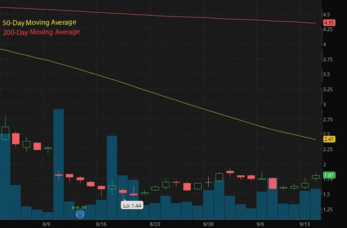 best penny stocks to buy now EyeGate Pharmaceuticals EYEG stock chart