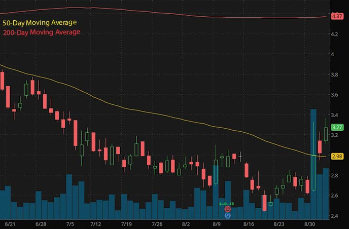 robinhood penny stocks to buy Evogene Ltd. EVGN stock chart