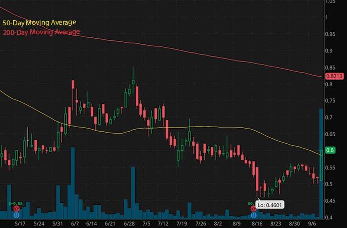 robinhood penny stocks to buy under $1 Cyren Ltd CYRN stock chart