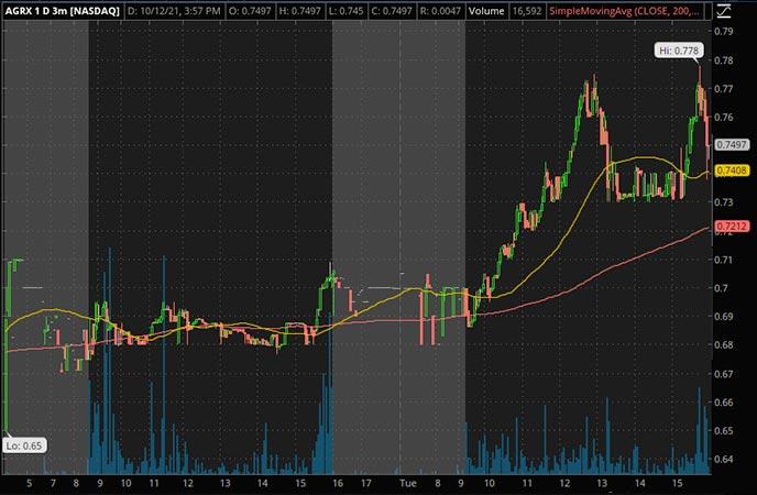 Penny_Stocks_to_Watch_Agile Therapeutics Inc. (AGRX Stock Chart)